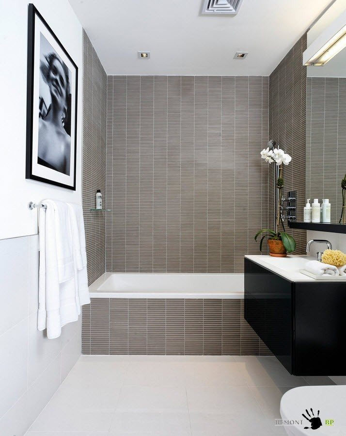 Плитка дизайн в ванне
