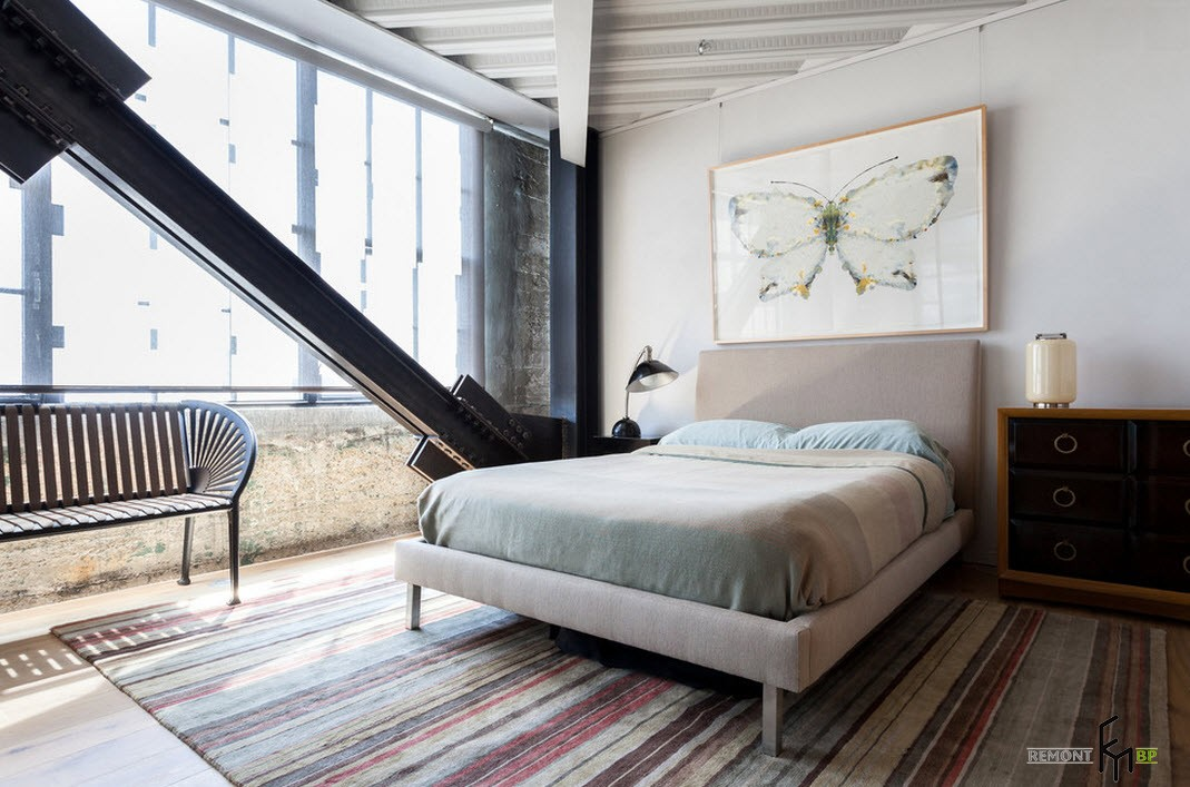 Оттенки серого  в оформлении спальни