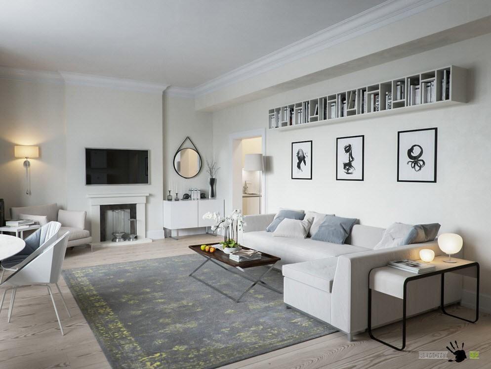 Бело-серо-черный дизайн
