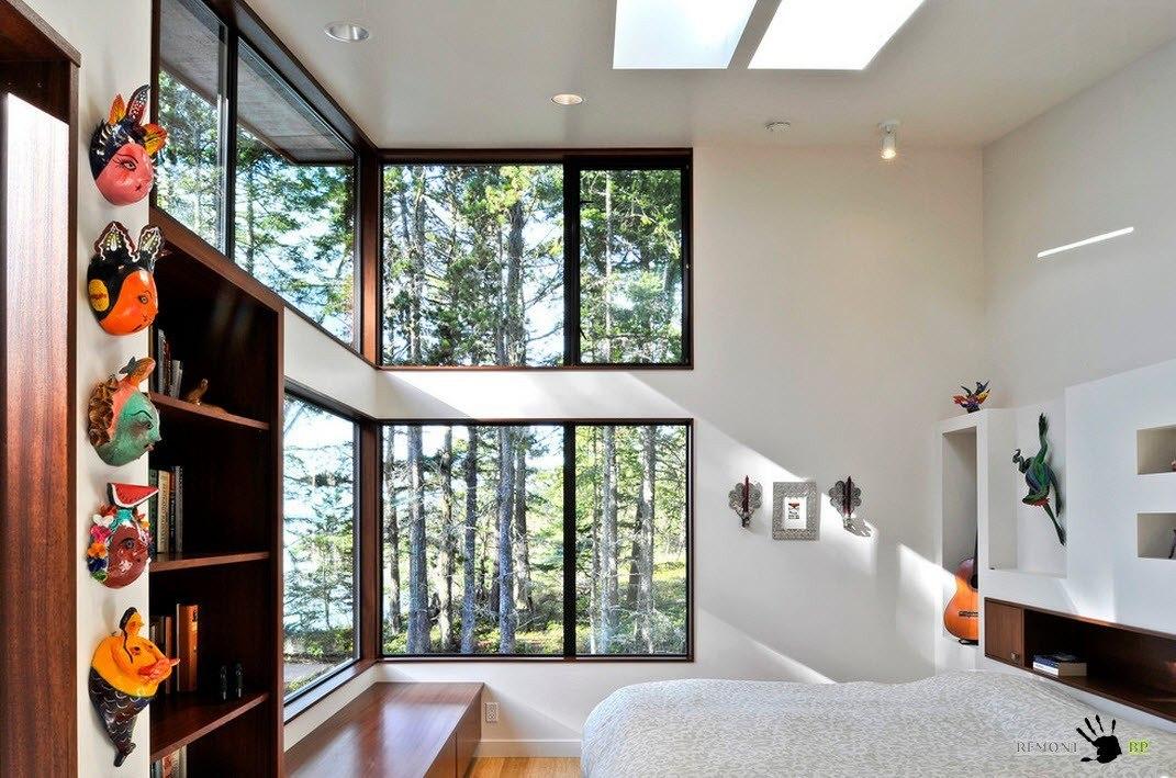 Угловые окна в два ряда