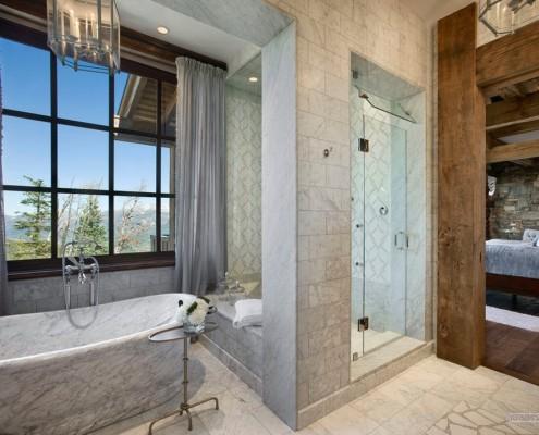 Ванная комната по-деревенски
