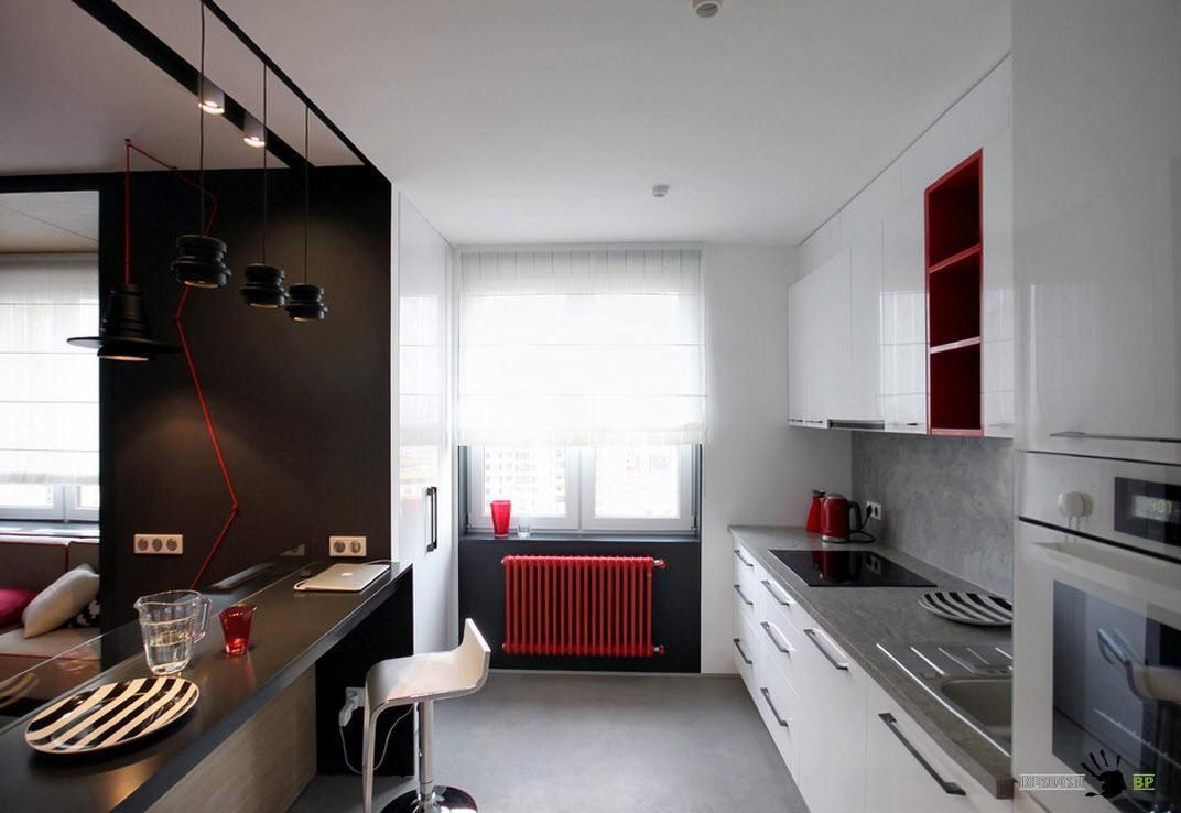Кухонная зона в квартире-студии