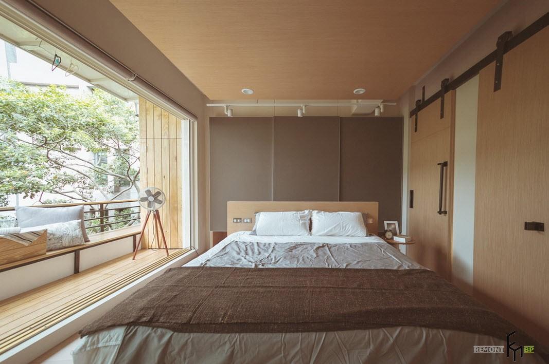 Коричневые цвет в интерьере спальни