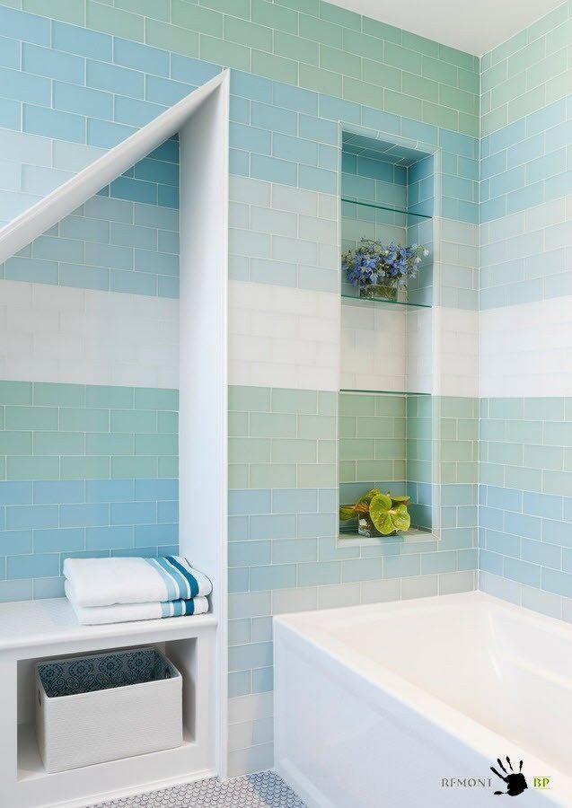 Планируем дизайн плитки в ванной комнате, 16 фото
