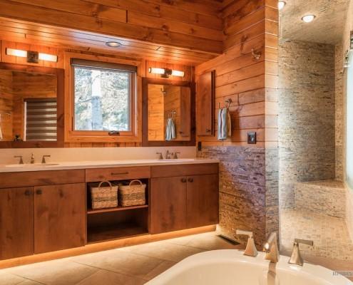 Стиль кантри при отделке ванной комнаты