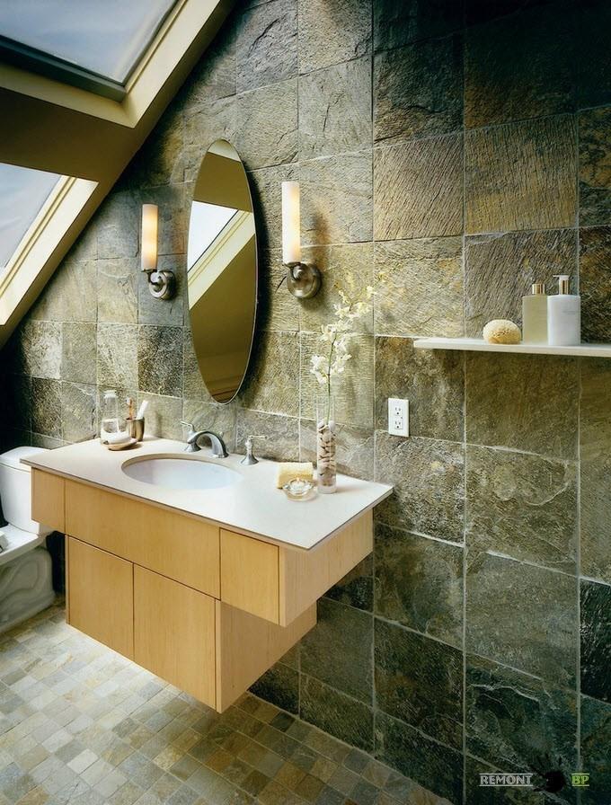 Каменная плитка для ванной