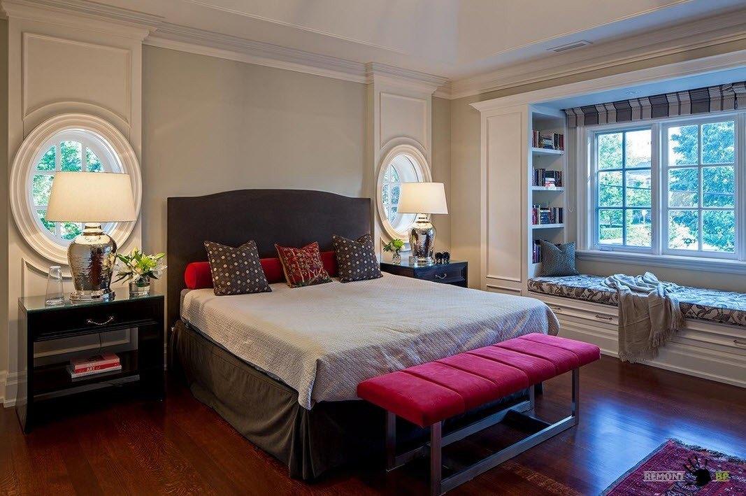 Круглые окна для спальни