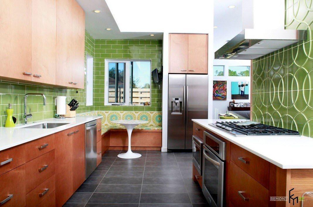 Уголок для яркой кухни