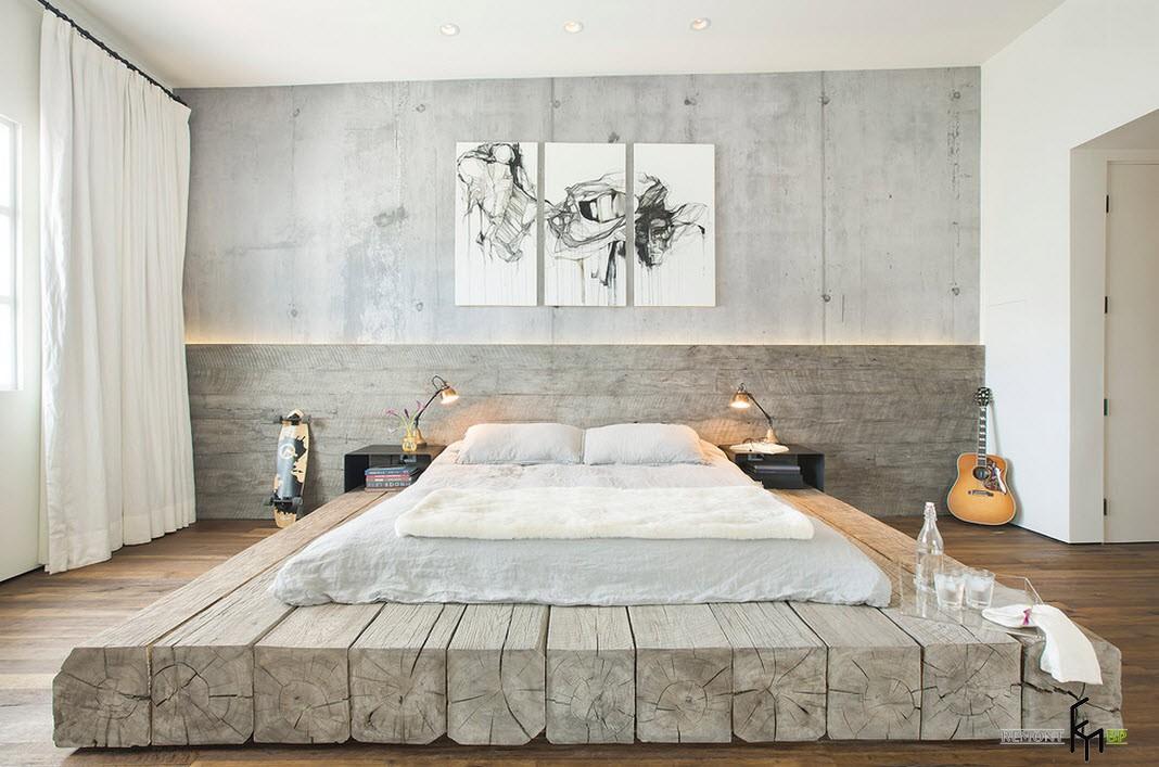 Постамент из дерева для кровати