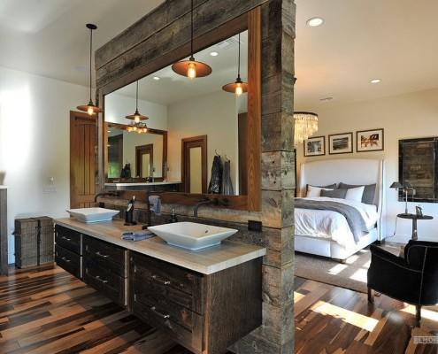 Ванная комната, совмещенная со спальней