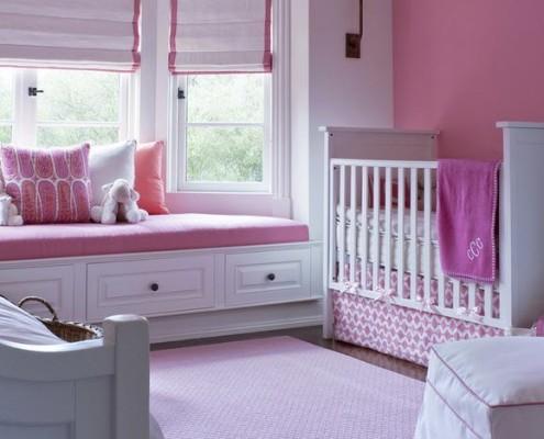 Бело-розовый дизайн