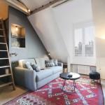 Уникальный интерьер парижской квартиры, расположенной на мансарде