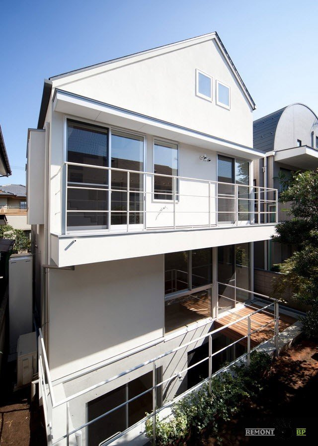 Японский загородный дом в стиле минимализм, Дизайн проект на фото