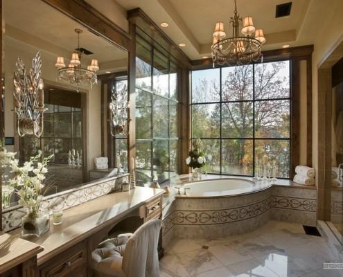 Светлая ванная комната в стиле кантри