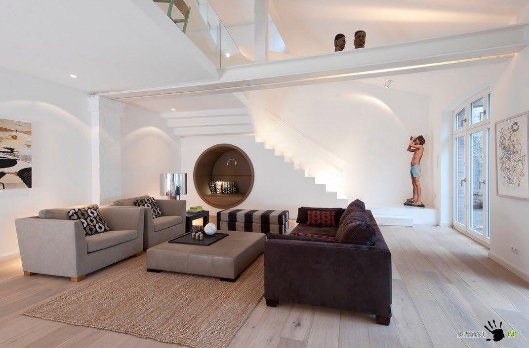 Гостиная в стиле современного минимализма