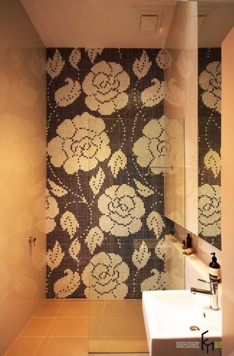 Мозаика в ванную с узорами