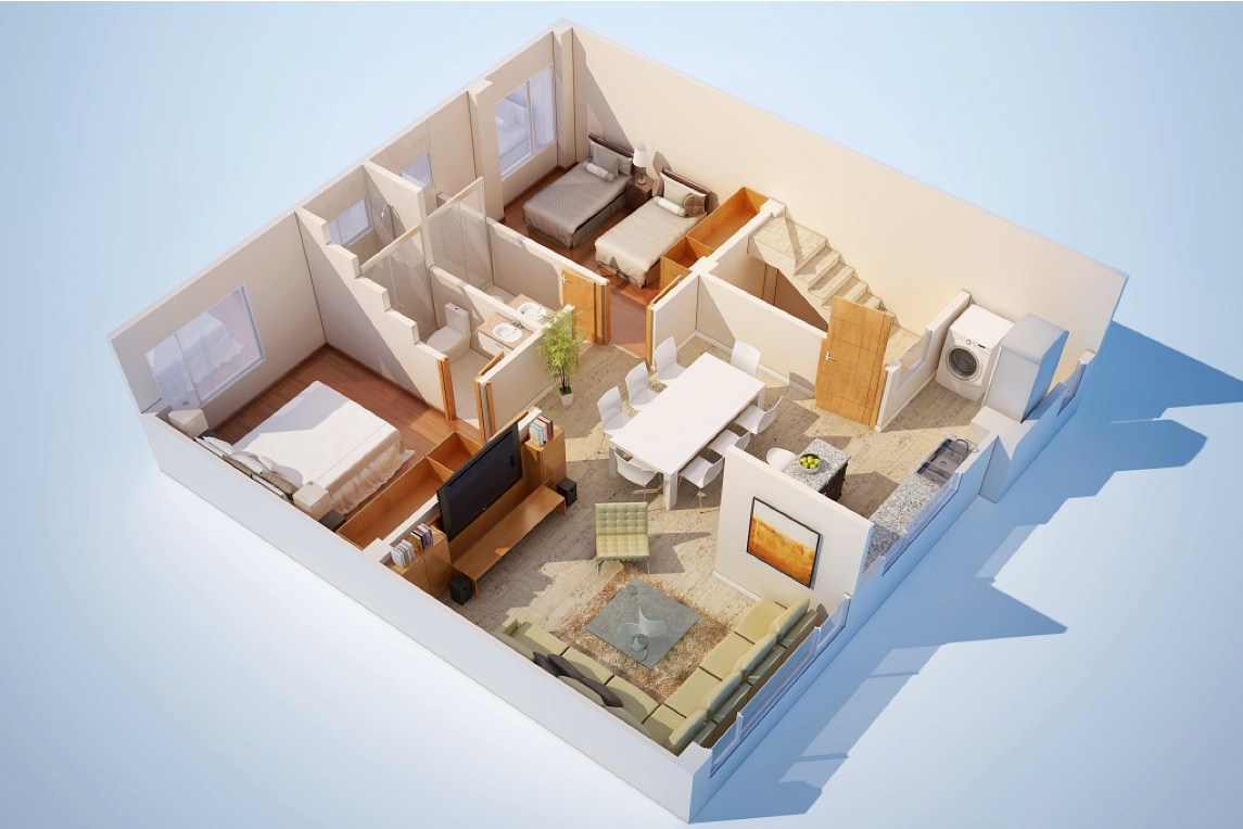 Дизайн квартир 3 д