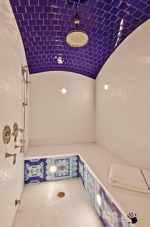 Керамическая плитка на потолке