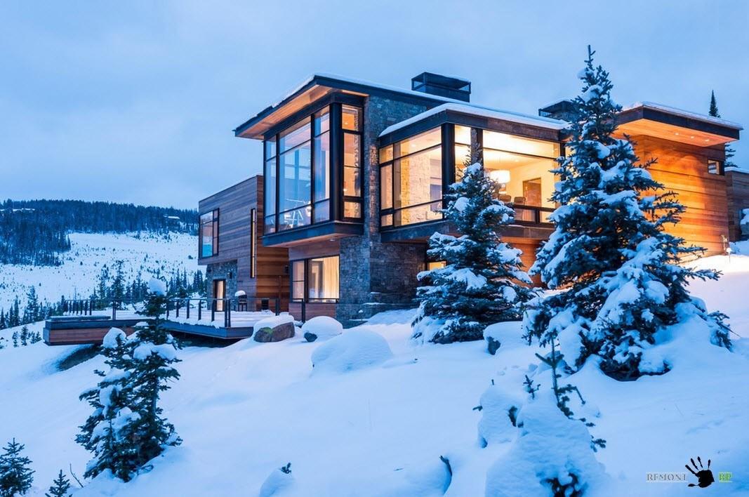 В зимнем пейзаже