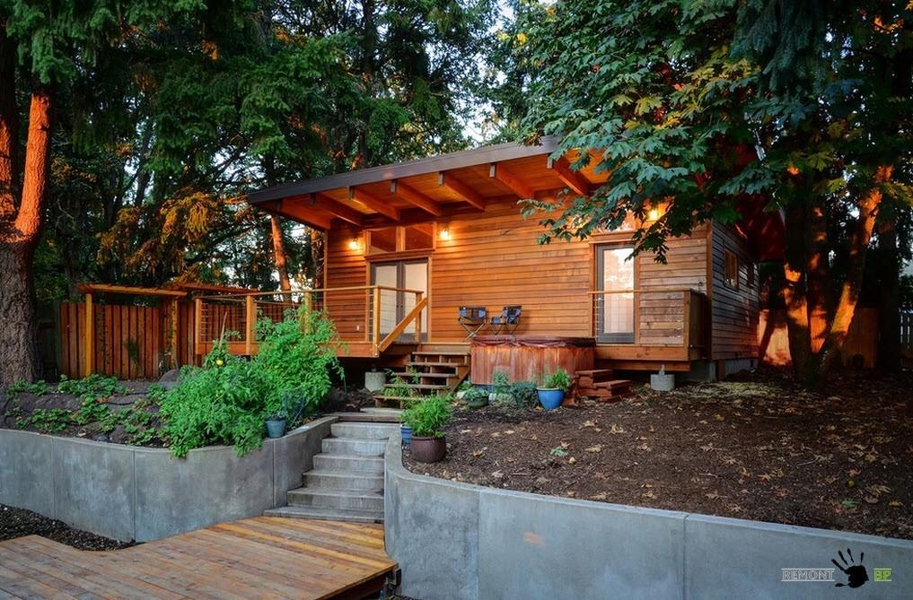 Дачный дом из древесины