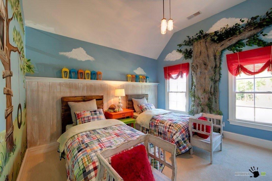 100 лучших идей детской комнаты для двоих детей на фото