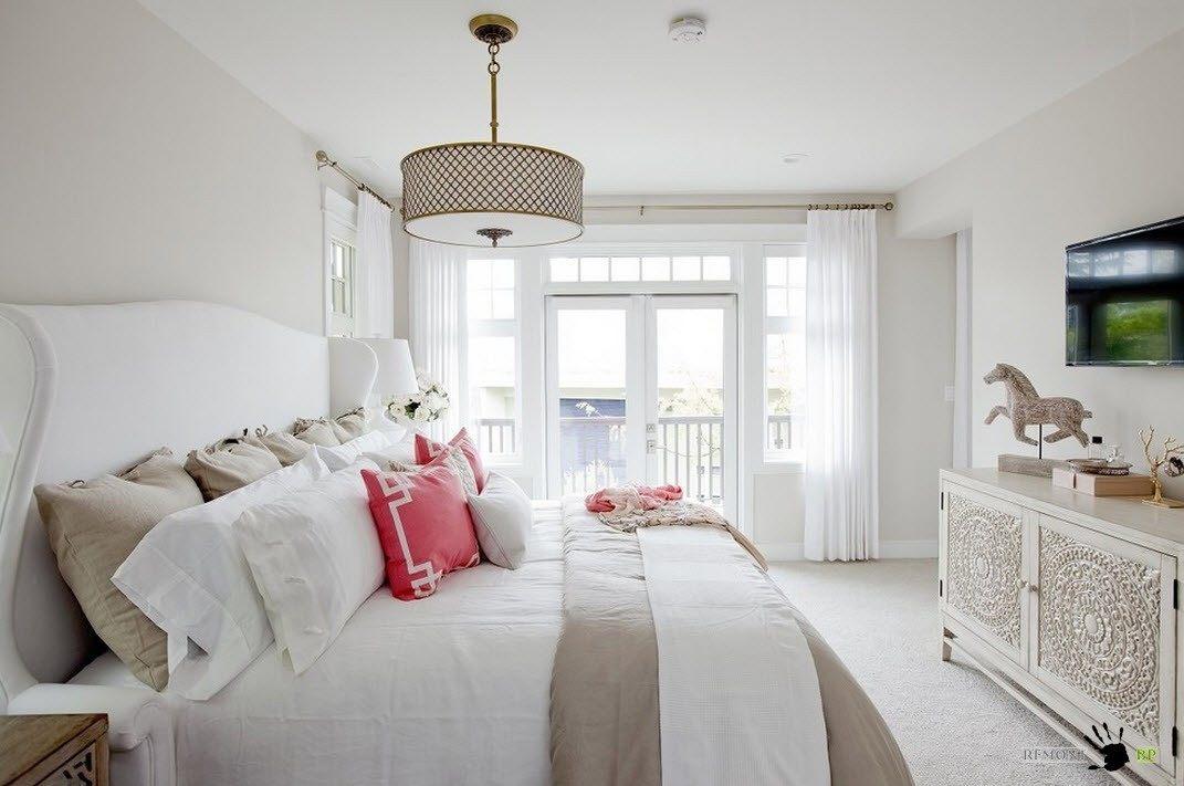 Акцент на текстиль кровати