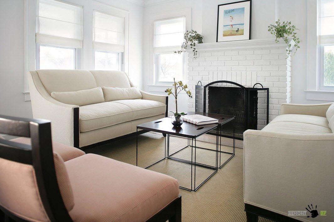 Стиль модерн в гостиной