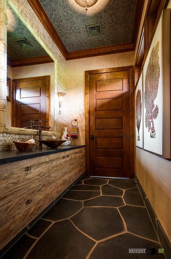 Эффектное оформление ванной комнаты