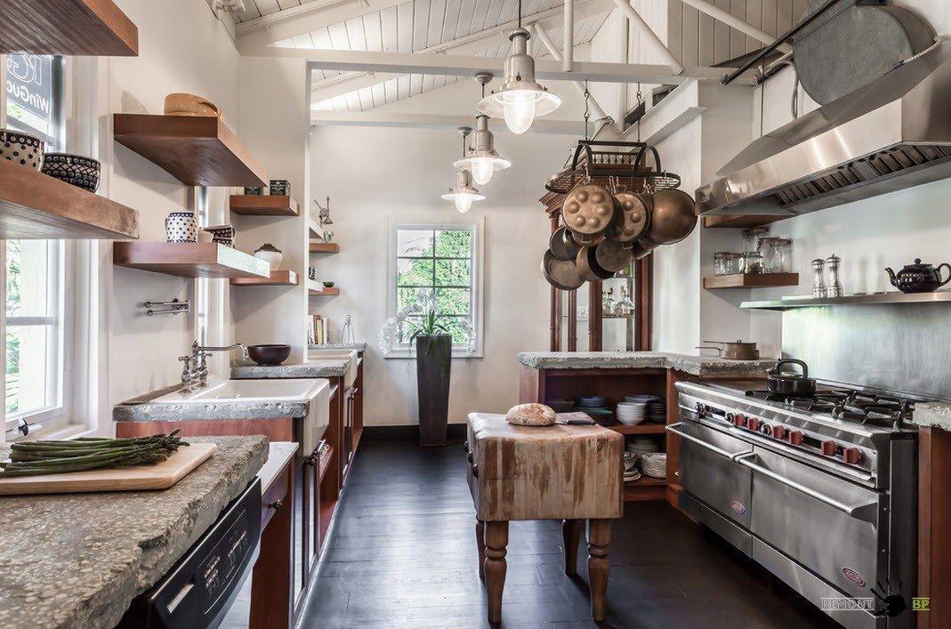 Необычный интерьер кухни