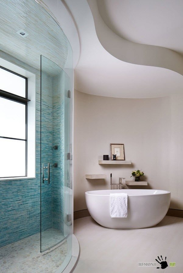 Гипсокартон на потолке ванной