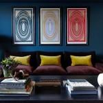 Все оттенки синего для колоритного интерьера гостиной