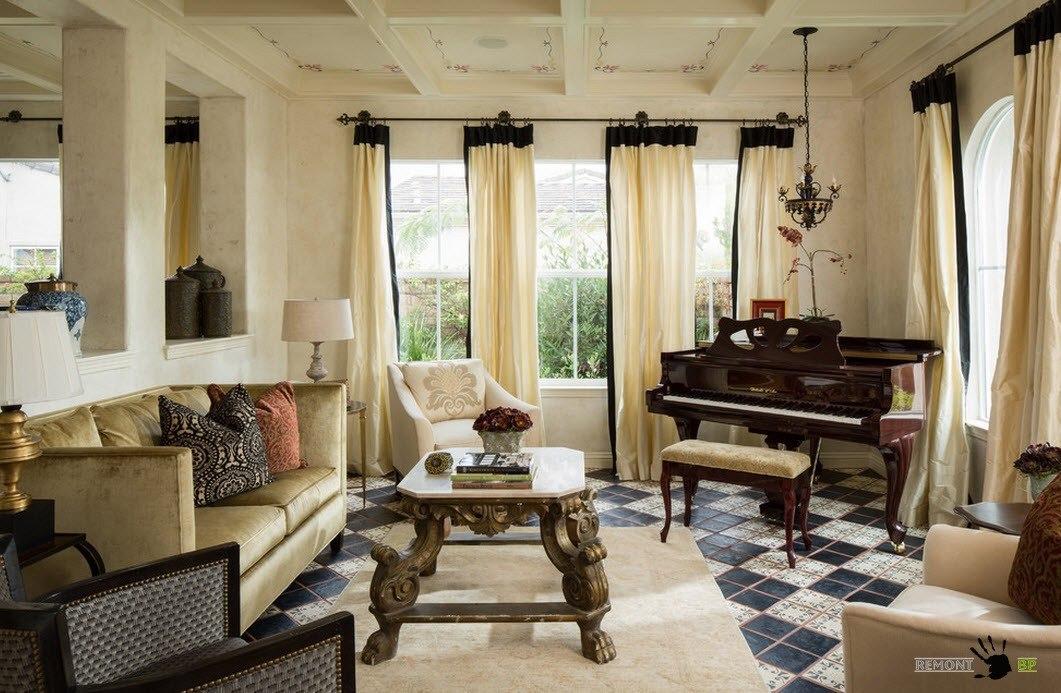 Интерьер комнаты с пианино или роялем: изысканный дизайн комнат