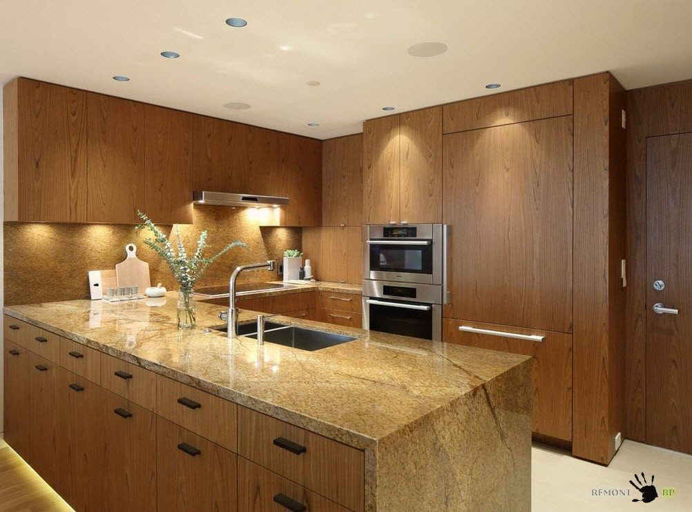 Кухня с полуостровом: 50 идей угловой планировки на фото