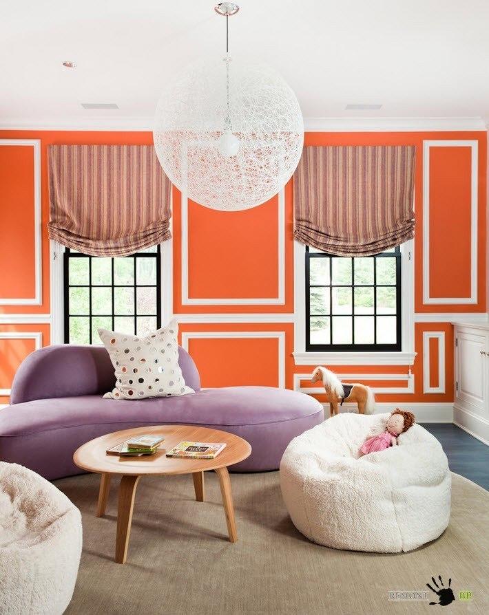 Оранжево-белое сочетание
