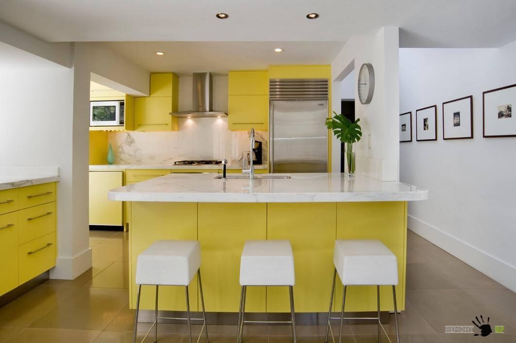 Бело-желтый дизайн