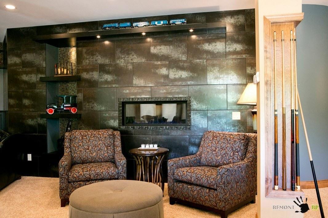 Комната для отдыха с камином
