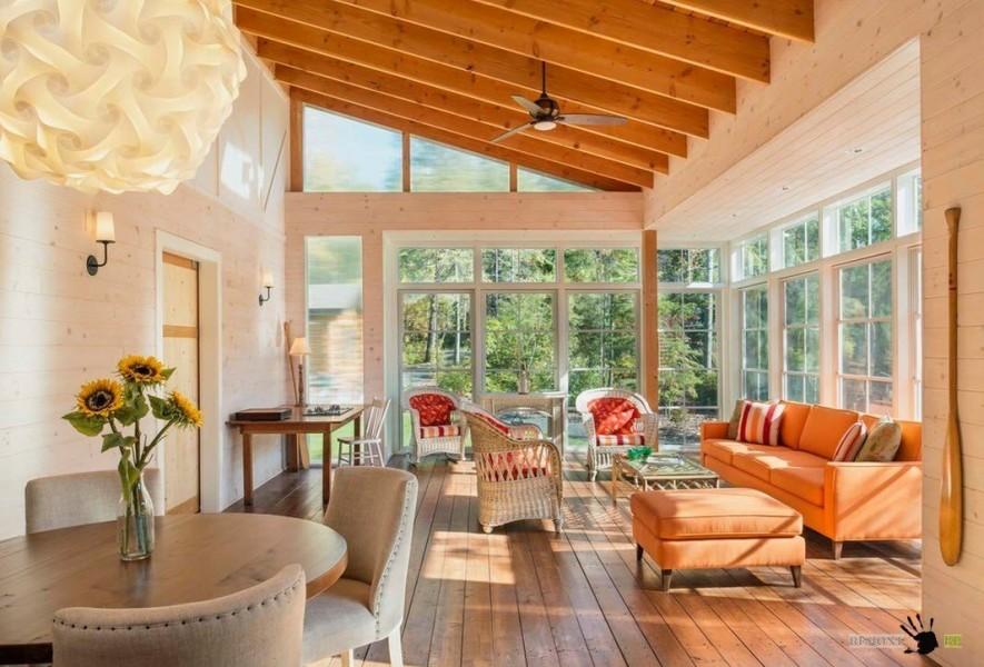 Дизайн теплой веранды в частном доме