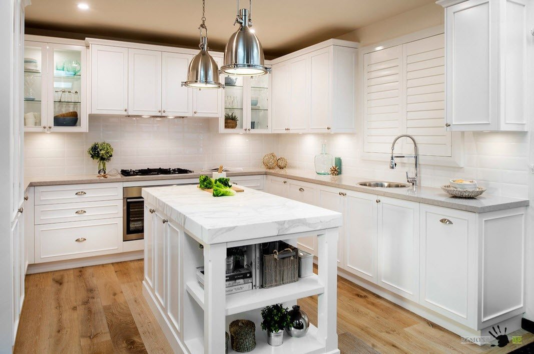 Белоснежная кухня