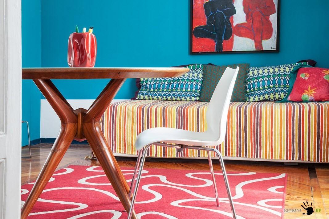 Квартира с ярким и необычным интерьером: колоритный дизайн