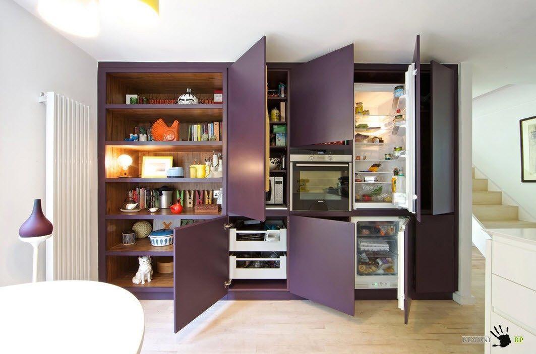 Фиолетово-белый дизайн