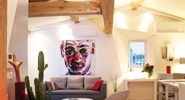 Квартира-мансарда с потолочными балками
