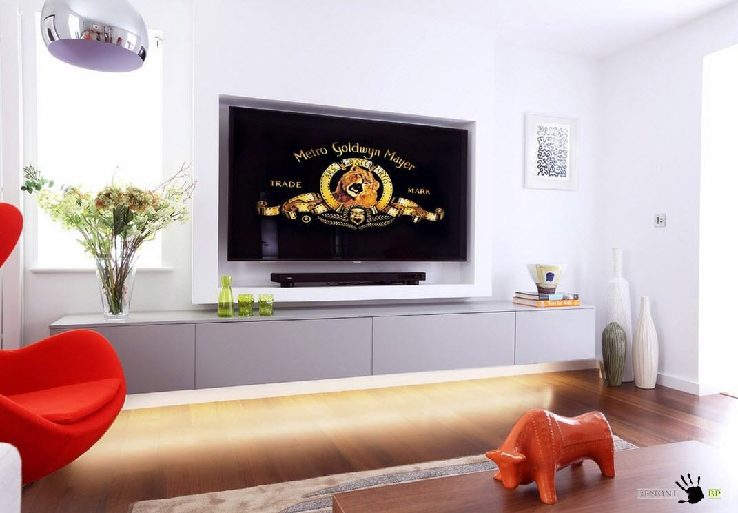 Зона с телевизором