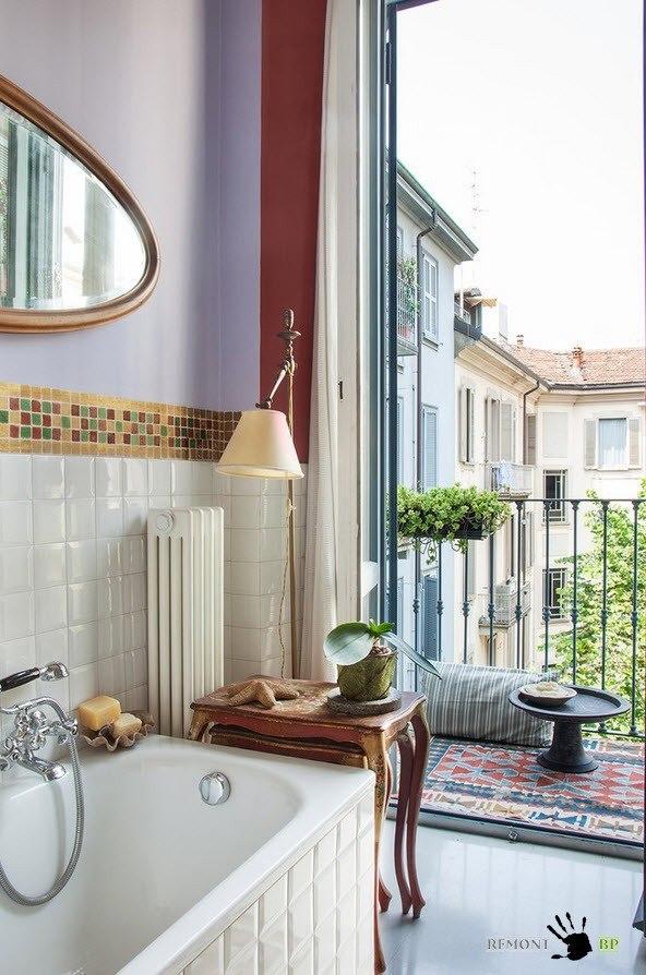 Ванная с балконом