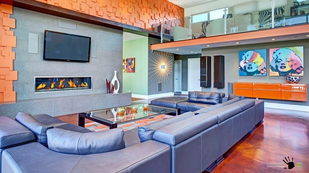 Оранжевые настенные панели