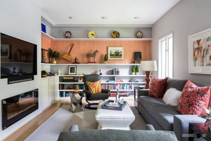 Современный дизайн небольшой гостиной