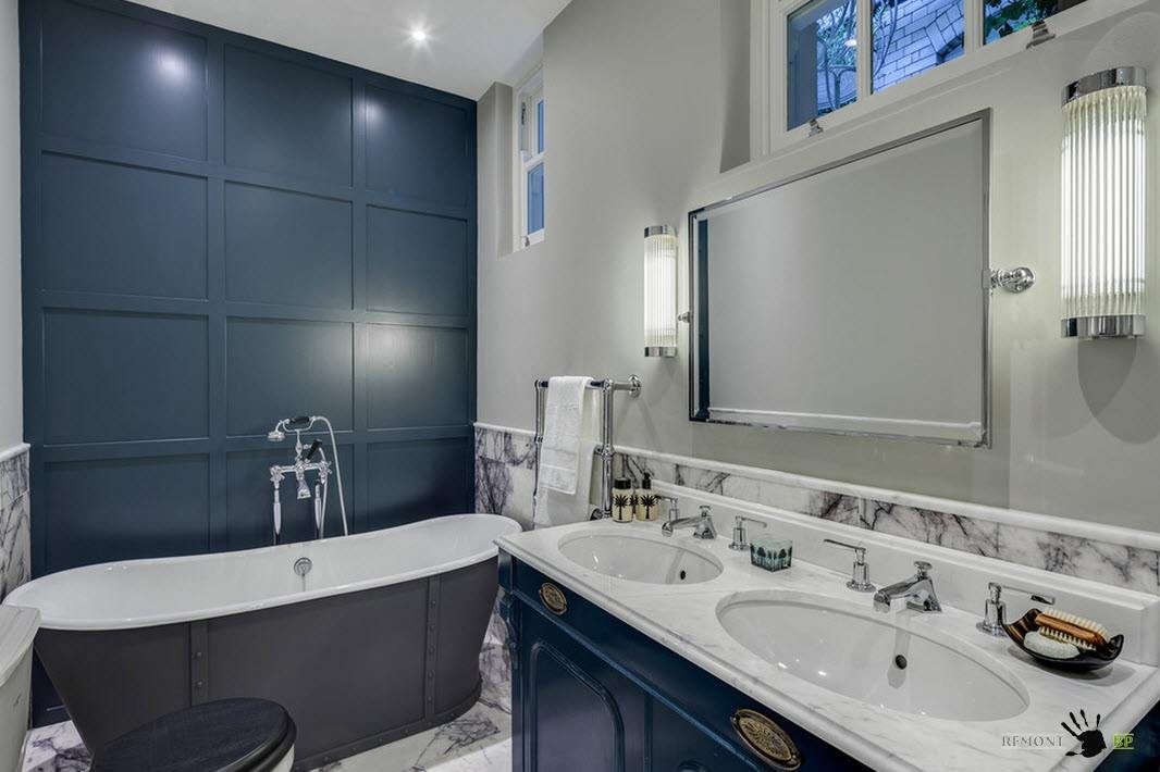 Потрясающая ванная комнат в классическом стиле
