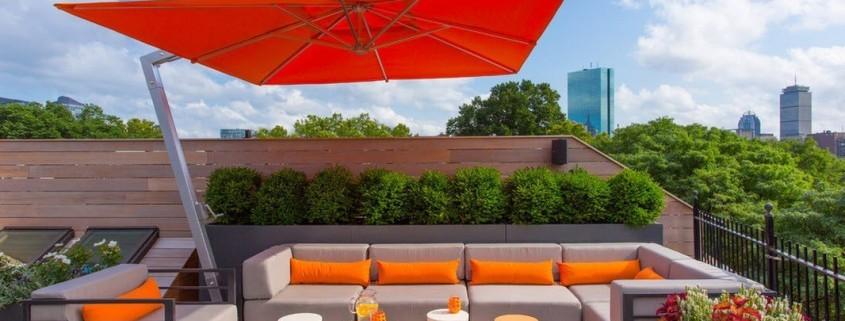 Дизайн квартиры с яркой террасой