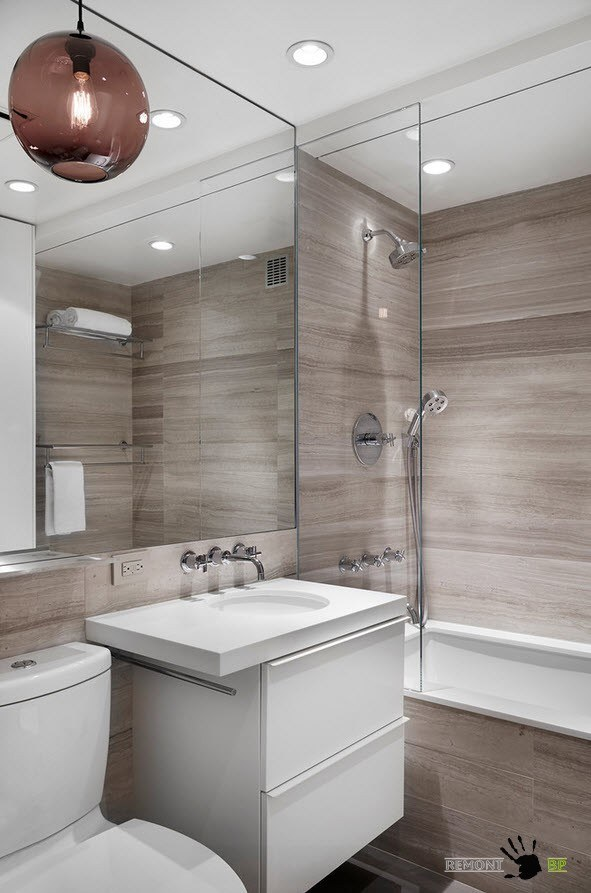 Дизайн проект ванной комнаты 6 кв м