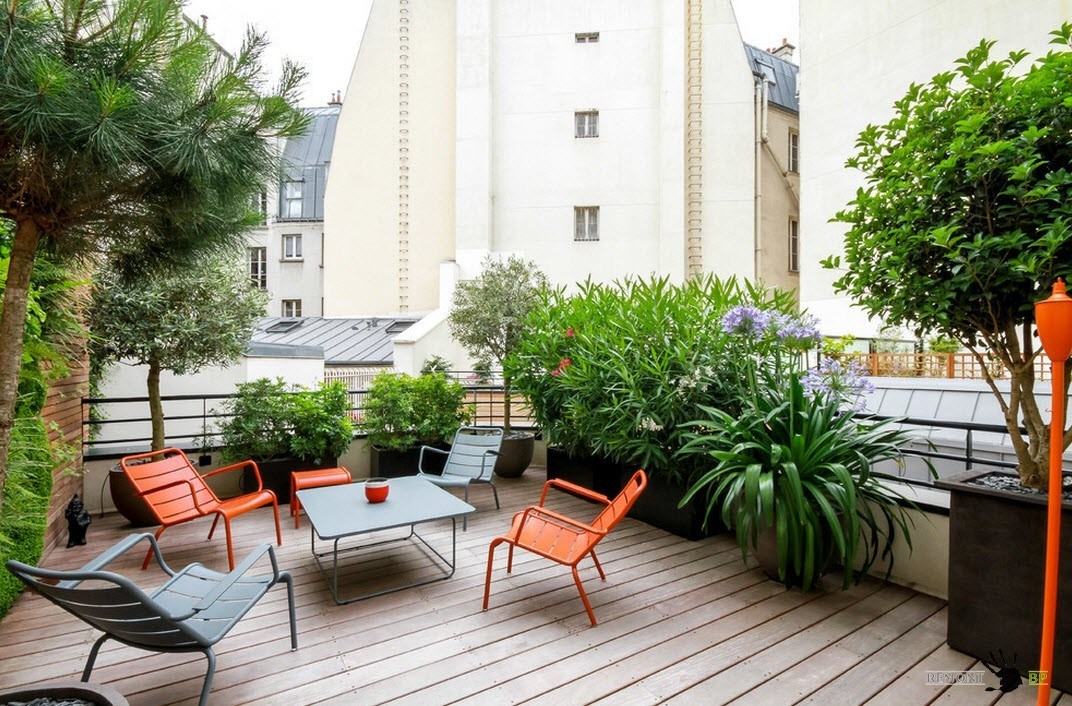 Дизайн открытых балконов