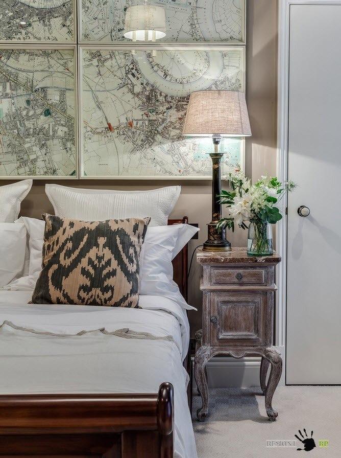 Детали оформления спальни в классическом стиле